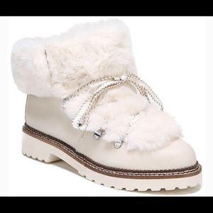 Franco Sarto Harlin leather faux fur boots